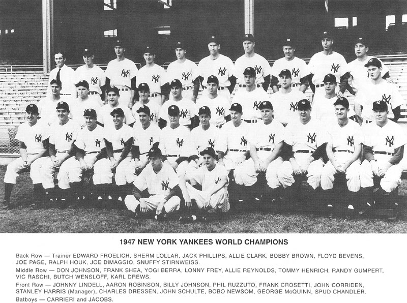 Image result for 1947 New York Yankees team photos