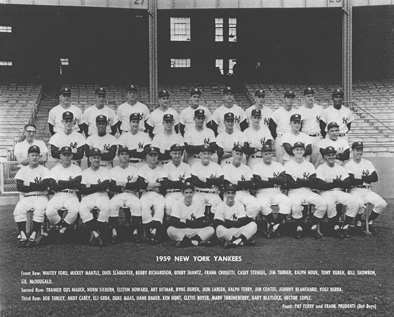 Image result for 1959  Yankees baseball photos