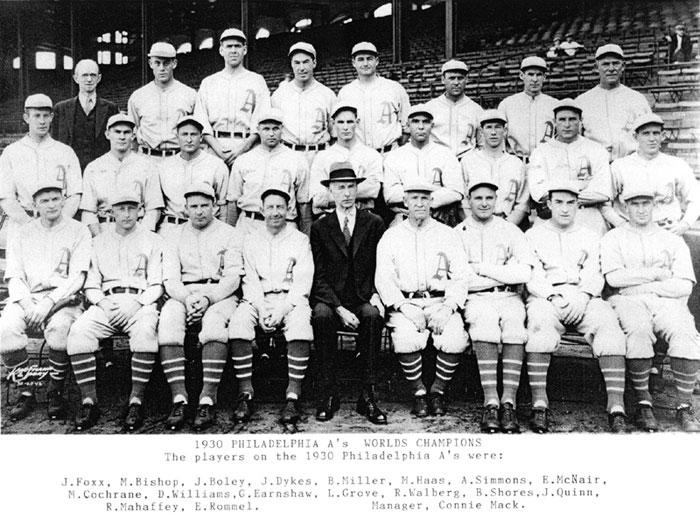 Thedeadballera com 1930 philadelphia athletics team photo