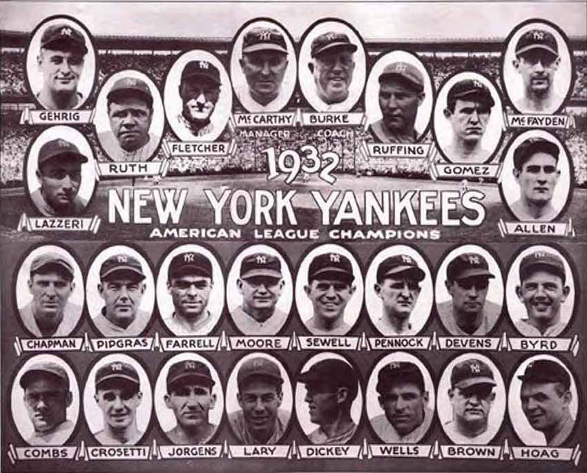thedeadballera com 1932 yankees team photo